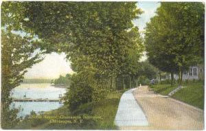 North Avenue, Chautauqua Institution, NY, New York State, 1909 Double Back