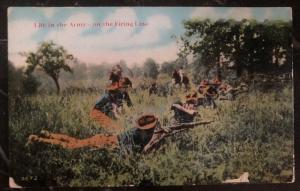 Mint Usa Army Picture Postcard PPC Life In The Army On Firing Line