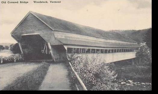 Vermont Woodstock Old Covered Bridge Albertype