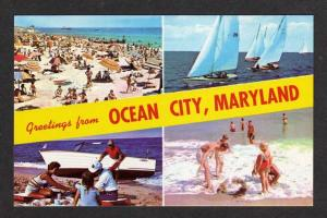 MD Greetings from OCEAN CITY MARYLAND Postcard PC