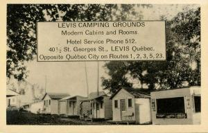 Canada - Quebec. Levis. Levis Camping Grounds, Cabins and Rooms