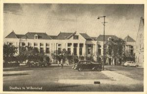 curacao, WILLEMSTAD, Town Hall (1950s) Postcard