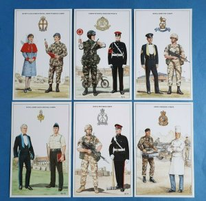 British Army Support Arm & Services Postcards Set of 6 Set 3 by Geoff White Ltd