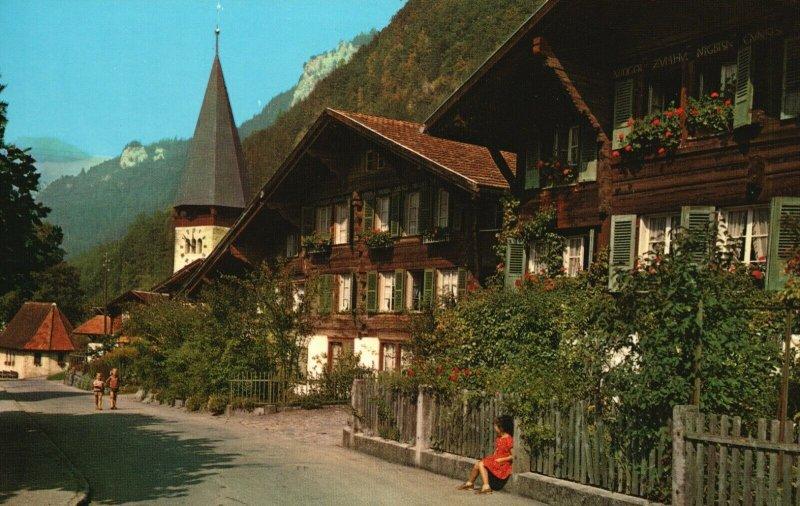 Vintage Postcard Meiringen Alte Dorfpartie Phto Wehrli AG. Zurich