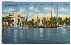 St. Petersburg, Florida, Soreno Hotel and Harbor Scene
