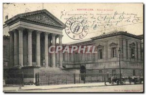Old Postcard Courthouse Montpellier