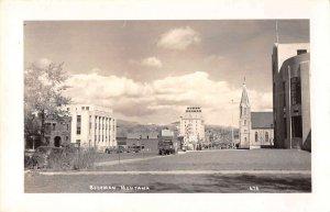 Bozeman Montana Street Scene Real Photo Antique Postcard J41476