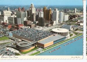 Postal 045520 : Detroits Civic Center. Michigan