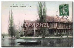 Old Postcard Bois de Vincennes The forestry house