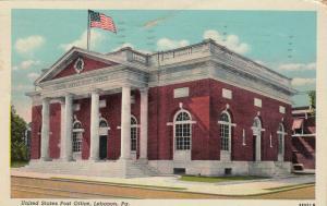 LEBANON , Pennsylvania, 1900-10s ; United States Post Office
