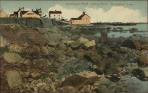 Stonington CT Homes on Point c1910 Postcard