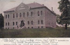 Canada New Brunswick Bathurst The Court House 1908