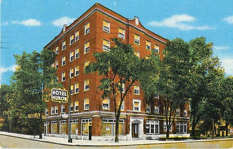 Hotel Huron Ypsilanti Mi Michigan 1948