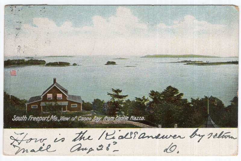 South Freeport, Me, View of Casco Bay from Castle Piazza