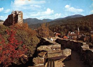 Heilbad Badenweiler Schwarzwald, Blick von der Burg Castle Ruins