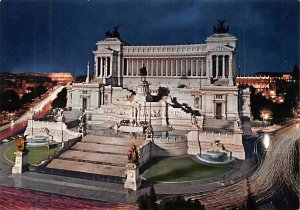 Monument to Victor Emmanuel II by Night Roma Italy Unused
