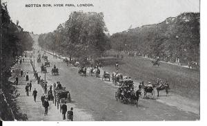 England - Rotten Row, Hyde Park, London  posted 1918 #040