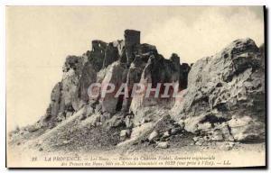Old Postcard The Provence Ruin feudal Baux du Chateau