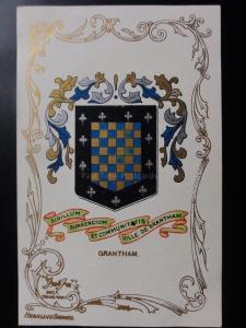 Lincolnshire: GRANTHAM - Heraldic Coat of Arms c1905 - Pub by Ja-Ja