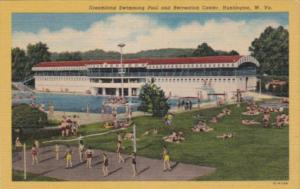 West Virginia Huntington Dreamland Swimming Pool and Recreation Center Curteich