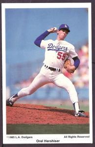 Orel Hershiser L.A. Dodgers Coca Cola Post Card PPC2446