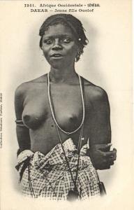 CPA Senegal Ethnic Nude Fortier - 1241. Dakar - Jeune Fille Ouolof (71219)