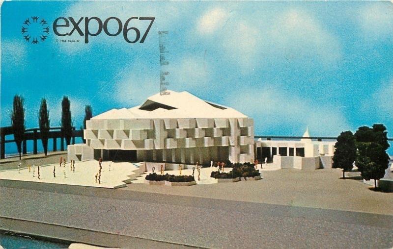 Montreal CanadaWorlds FairExpo 67Pavilion Of IsraelJewish History1967 PC HipPostcard