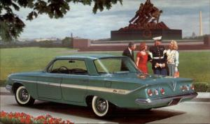 Chevy Chevrolet Vintage Promo Postcard 1961 IMPALA