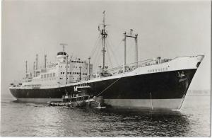 Hannover New York Harbor Ship Nautica Real Photo Postcard 01.21
