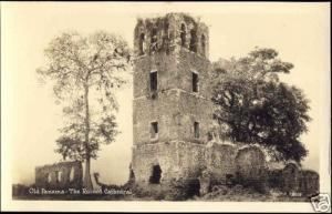 panama, The Ruined Cathedral (1930s) RPPC