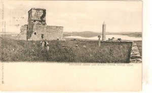 Devenish Abbey and Round Tower. Lough Erne Tuck Postcard # 2906
