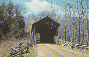 Greggs Mill Covered Bridge #6 Over Wakatomica Creek Fallsburg Ohio