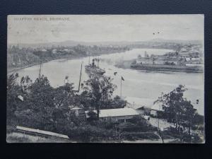 Australia BRISBANE Shafton Reach shows Steam Boat - Old PC Queen Victoria Stamp