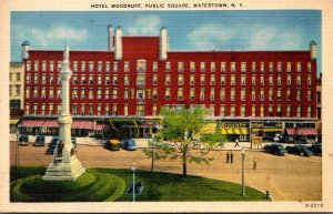 New York Watertown Hotel Woodruff Public Square 1942