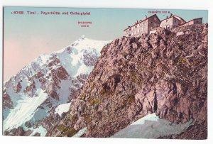 P1243 old unused postcard tirol-payerhutte und ortlergipfel switzerland