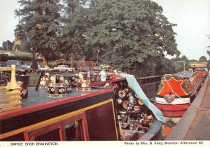 B100838 barge shop braunston ship bateaux    uk