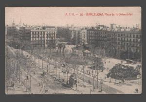 089226 SPAIN Barcelona Plaza de la Universidad Vintage PC