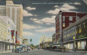 GULFPORT , Mississippi, 1930-40s ; Fourteenth Street , Looking East