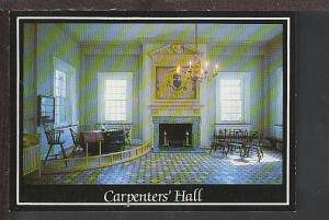 Interior Carpenter's Hall Philadelphia PA Postcard BIN