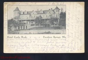EXCELSIOR SPRINGS MISSOURI HOTEL CASTLE ROCK 1906 ANTIQUE VINTAGE POSTCARD MO