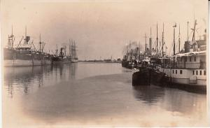 Argentina - Santa Fe Harbor - Dock #1 RP Card 1927