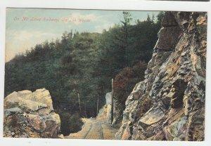 P2241, old postcard on mt. lowe railway in winter, calif