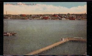 Colour  PC Birds's Eye View of Yarmouth, NS unused