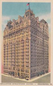 Pennsylvania Philadlephia Bellevue Stratford Hotel 1955 Curteich