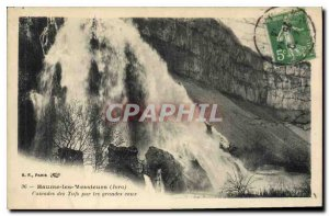 Old Postcard Baume les Messieurs Jura Cascades Tuffs in the great waters