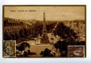 138759 Portugal LISBOA Avenida da Liberdade Vintage postcard