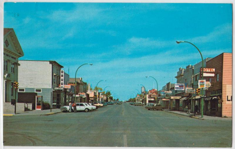 Main St. kindersley, Saskatchewan