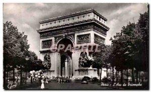 Old Postcard Paris The Triumphal Arch
