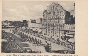JAIPUR , India , 00-10s ; State procession near Hawa Mahal