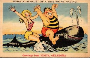 Oklahoma Humour Greetings From Vinita What A Whale Of A Time We're Havin...